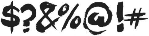 Motor City otf (400) Font OTHER CHARS