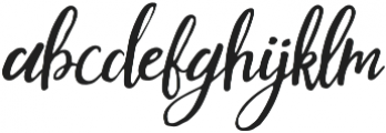 Mouley Italic otf (400) Font LOWERCASE