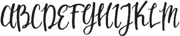 Mouley Regular otf (400) Font UPPERCASE