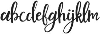 Mouley Regular otf (400) Font LOWERCASE