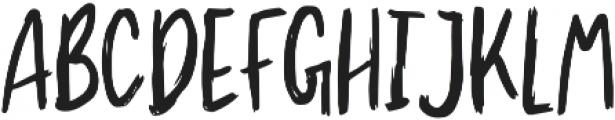 Mountain Brush otf (400) Font UPPERCASE