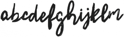 Mountain Brush otf (400) Font LOWERCASE