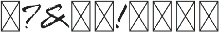 Mountain Saberola Regular otf (400) Font OTHER CHARS