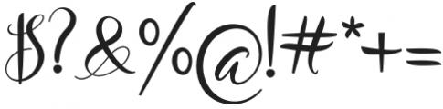 Mountiza Regular otf (400) Font OTHER CHARS