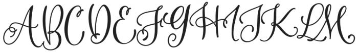 Mountiza Regular otf (400) Font UPPERCASE