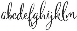 Mountiza Regular otf (400) Font LOWERCASE