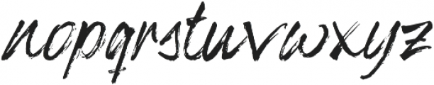 Moveness Brush otf (400) Font LOWERCASE