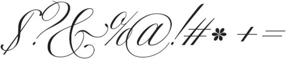 Mozart Script EXT Thin ttf (100) Font OTHER CHARS