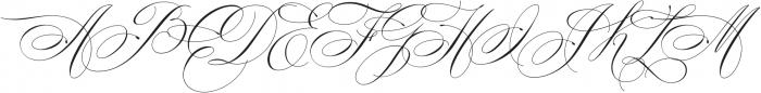 Mozart Script EXT Thin ttf (100) Font UPPERCASE