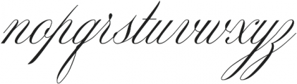 Mozart Script EXT Thin ttf (100) Font LOWERCASE