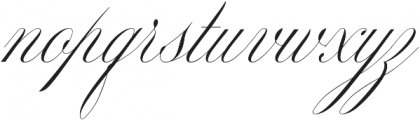 Mozart Script Thin ttf (100) Font LOWERCASE