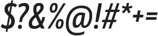 Mozer SemiBold Italic otf (600) Font OTHER CHARS