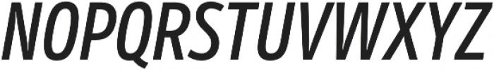 Mozer SemiBold Italic otf (600) Font UPPERCASE