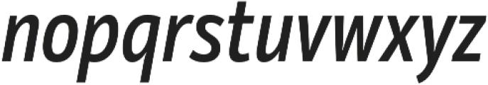 Mozer SemiBold Italic otf (600) Font LOWERCASE