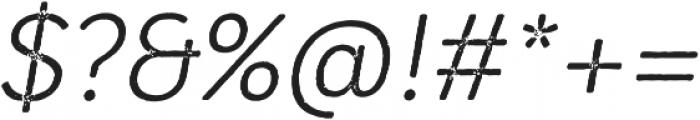 Mozzart Rough Regular Oblique otf (400) Font OTHER CHARS