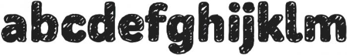 Mozzart Sketch ExtraBold otf (700) Font LOWERCASE