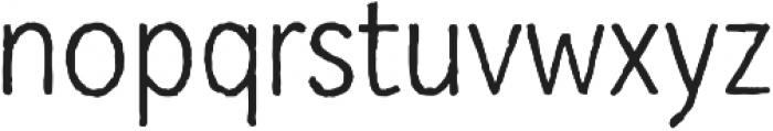Mozzart Sketch Regular Condensed otf (400) Font LOWERCASE