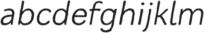 Mozzart Sketch Regular Oblique otf (400) Font LOWERCASE