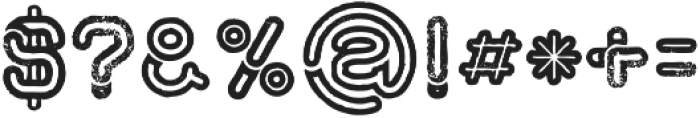 montana bold line Grunge otf (700) Font OTHER CHARS