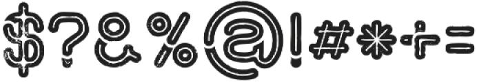 montana regular line Grunge otf (400) Font OTHER CHARS
