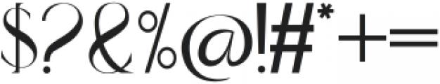 moraisa otf (400) Font OTHER CHARS