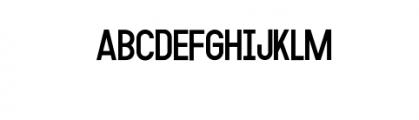 MODULAR-11pt.otf Font UPPERCASE