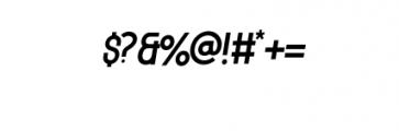 MODULAR-Italic11PT.otf Font OTHER CHARS