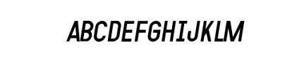 MODULAR-Italic11PT.otf Font LOWERCASE