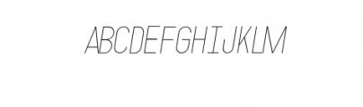 MODULAR-Italic2Pt.otf Font UPPERCASE