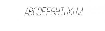 MODULAR-Italic2Pt.otf Font LOWERCASE