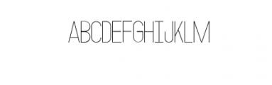 MODULAR-Thin2.otf Font UPPERCASE