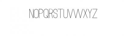 MODULAR-Thin2.otf Font LOWERCASE