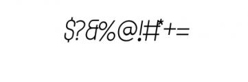 MODULAR-italic4Pt.otf Font OTHER CHARS