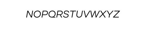 Molde Nova Italic.otf Font UPPERCASE