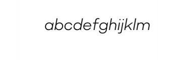 Molde Nova Light Italic.otf Font LOWERCASE