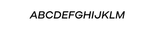 Molde Nova Medium Italic.otf Font UPPERCASE