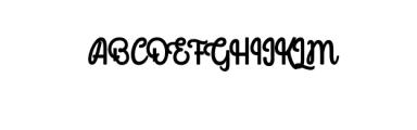 Mondella Font Font UPPERCASE