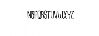 Monorain.otf Font UPPERCASE