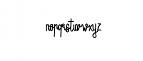 Monorain.otf Font LOWERCASE