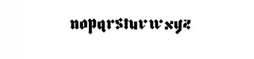 morgan.ttf  Font LOWERCASE