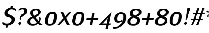 Mondial Plus Normal Italic Font OTHER CHARS