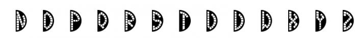 Mosaic Monograms Two White Font UPPERCASE