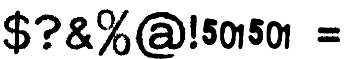MODERN TYPEWRITER Font OTHER CHARS