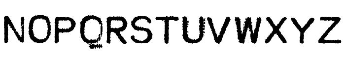 MODERN TYPEWRITER Font UPPERCASE