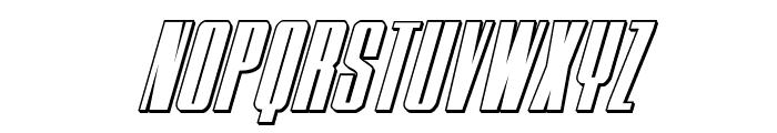 MOON Runner 3D Italic Font UPPERCASE