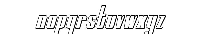 MOON Runner 3D Italic Font LOWERCASE