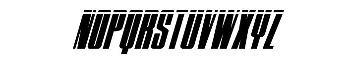 MOON Runner Laser Italic Font UPPERCASE