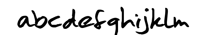 MoanHand Font LOWERCASE
