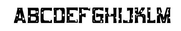 Mob Concrete Font UPPERCASE