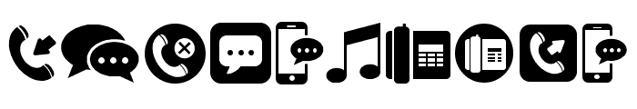 Mobile Icons Regular Font OTHER CHARS